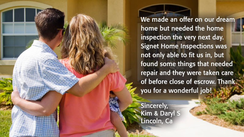 Signet Home Inspection testimonials