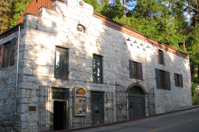 Iconic Stonehouse Brewery Building in Nevada City, California